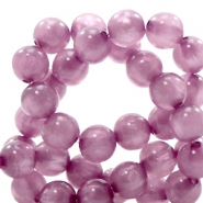 Super Polaris beads round 8 mm Light Mauve Purple
