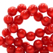 Super Polaris beads round 6 mm Candy Red