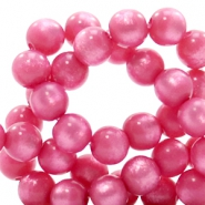 Super Polaris beads round 6 mm Peonia Purple