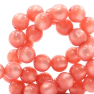 Super Polaris beads round 6 mm Salmon Rose
