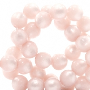 Super Polaris beads round 6 mm Whisper Pink