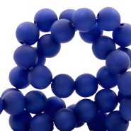 Polaris beads round 8 mm matt Cobalt Blue