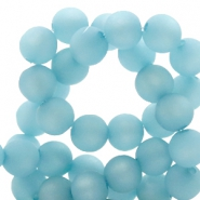 Polaris beads round 8 mm matt Eton Blue