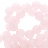 Polaris beads round 6 mm matt Whisper Pink