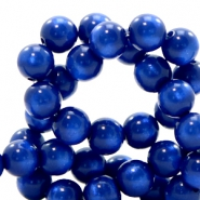 Polaris beads round 10 mm pearl shine Cobalt Blue