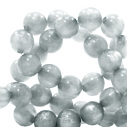 Polaris beads round 6 mm pearl shine Pewter Grey