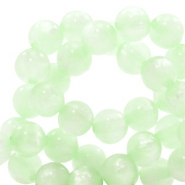 Polaris beads round 6 mm pearl shine Relaxing green