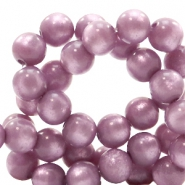 Polaris beads round 8 mm pearl shine Light Mauve Purple