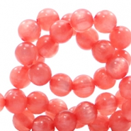 Polaris beads round 6 mm pearl shine Salmon Rose