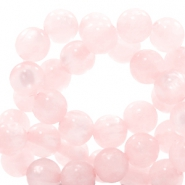 Polaris beads round 6 mm pearl shine Whisper Pink
