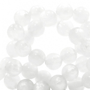 Polaris beads round 8 mm pearl shine White