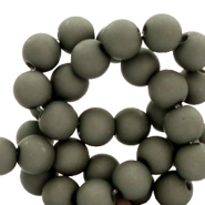 6 mm acrylic beads Anthracite Grey