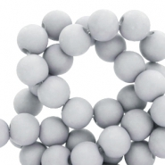 8 mm acrylic beads Haze Grey
