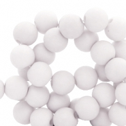 8 mm acrylic beads Chalk Grey