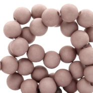 8 mm acrylic beads Desert Taupe