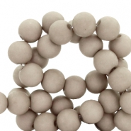 8 mm acrylic beads Smokey Taupe