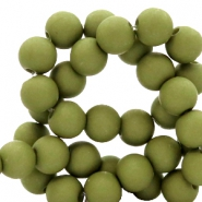 6 mm acrylic beads Dark Olive Green