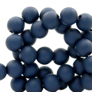 6 mm acrylic beads Anthracite Blue