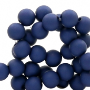 8 mm acrylic beads Oxford Blue
