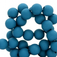 8 mm acrylic beads Deep Marine Blue