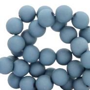 8 mm acrylic beads Cendre Blue