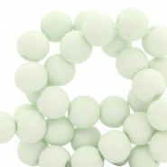 8 mm acrylic beads Fog Green