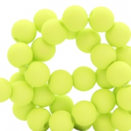 6 mm acrylic beads Lime Green