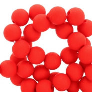 8 mm acrylic beads Crimson Red