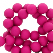 6 mm acrylic beads Deep Magenta Purple