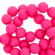 10 mm acrylic beads Fuchsia Pink