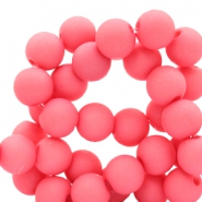 6 mm acrylic beads Deep Pink