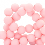 8 mm acrylic beads Baby Pink