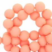 6 mm acrylic beads Salmon Rose
