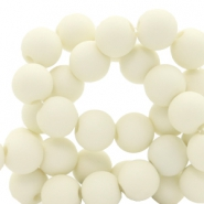 6 mm acrylic beads Pastel Yellow