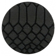 DQ European leather cabochons 35mm Onyx Black