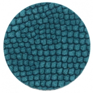 DQ European leather cabochons 35mm Porcelain Blue
