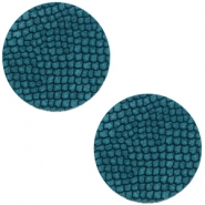 DQ European leather cabochons 12mm Porcelain Blue