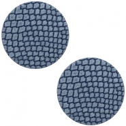 DQ European leather cabochons 12mm Coronet Blue