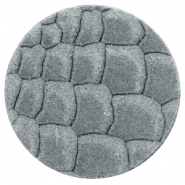 DQ European leather cabochons 35mm Grey