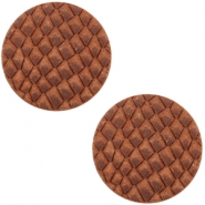 DQ European leather cabochons 20mm Chestnut Brown