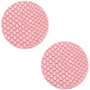 DQ European leather cabochons 12mm Amaranth Pink