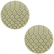 DQ European leather cabochons 12mm Willow Green