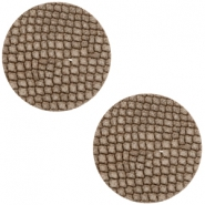 DQ European leather cabochons 20mm Etherea Brown