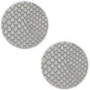 DQ European leather cabochons 12mm Vapor Grey