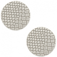 DQ European leather cabochons 12mm Vaporous Grey