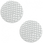 DQ European leather cabochons 20mm Star White
