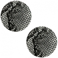 DQ European leather cabochons 20mm Snake Black