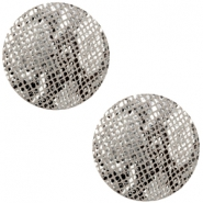 DQ European leather cabochons 20mm Snake Grey
