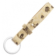 Cuoio key chain 15mm Mellow Buff Beige