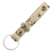 Cuoio key chain 15mm Pristine Beige